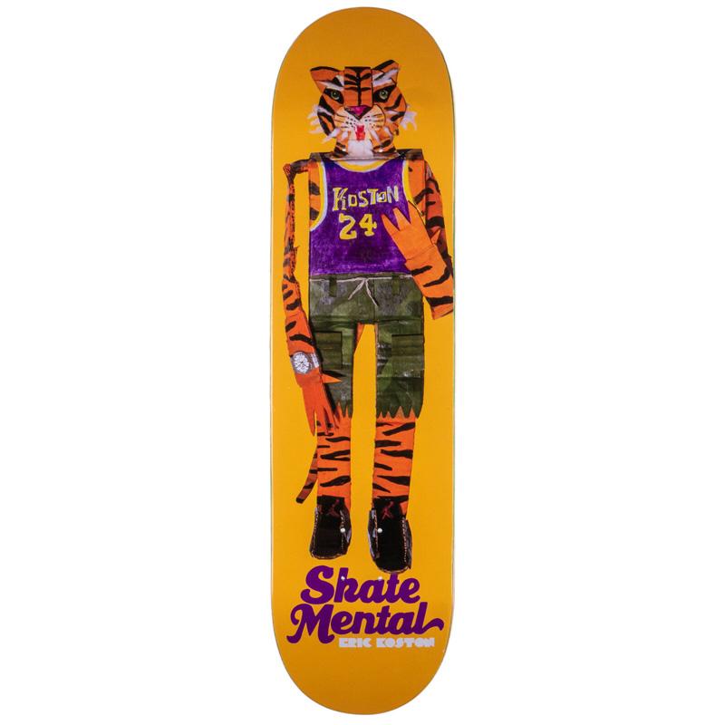 Skate Mental Koston Tiger Orange Skateboard Deck 8.125