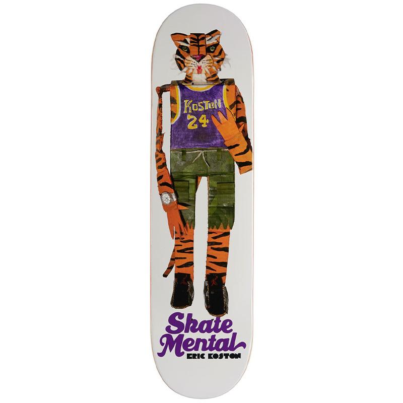 Skate Mental Koston Tiger White Skateboard Deck 8.0