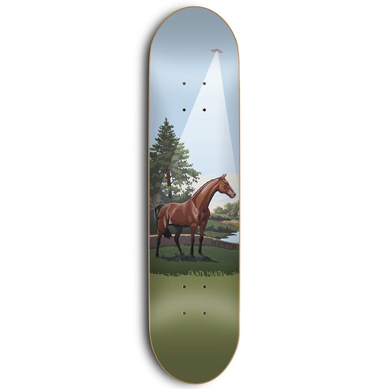 Skate Mental Motta Horse Abduction/Books Skateboard Deck 8.125