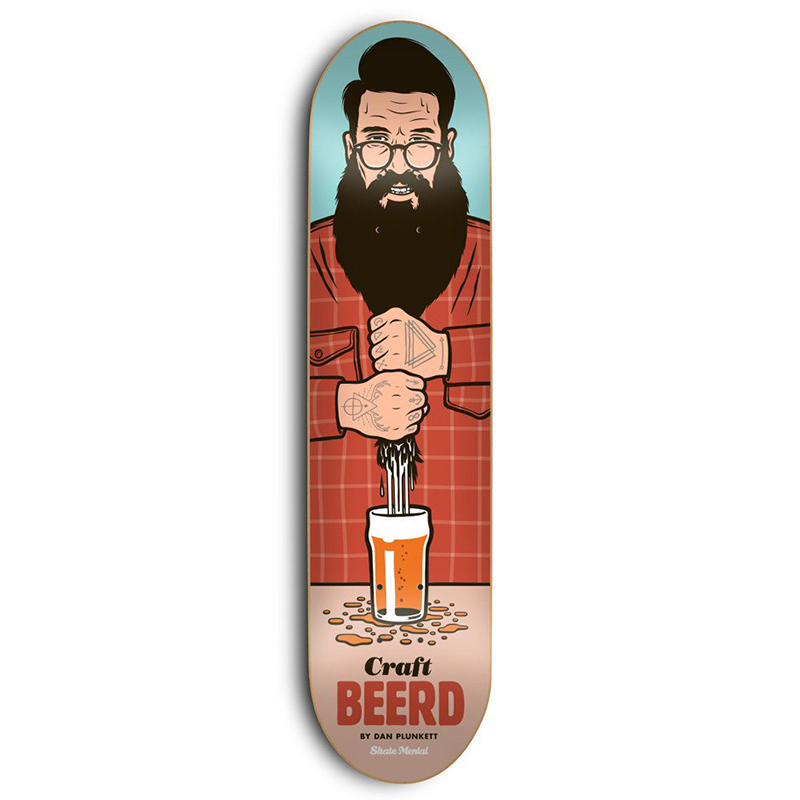 Skate Mental Plunkett Craft Beerd Skateboard Deck 8.25