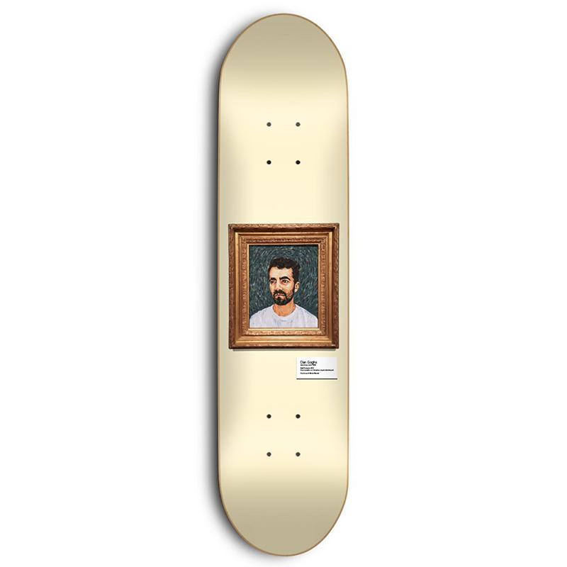 Skate Mental Plunkett Dan Goghs Skateboard Deck 8.375
