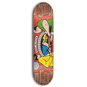Skate Mental Rest In Pizza Skateboard Deck 8.25