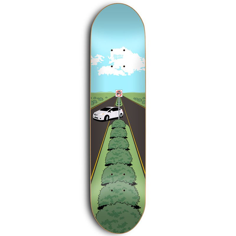 Skate Mental Texting While Driving Skateboard Deck 8.5