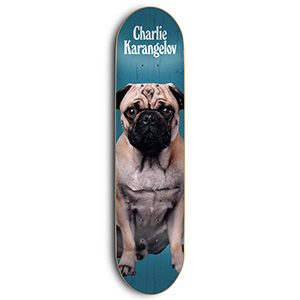 Skate Mental Tom K Charlie Skateboard Deck Assorted Veneers 8.25