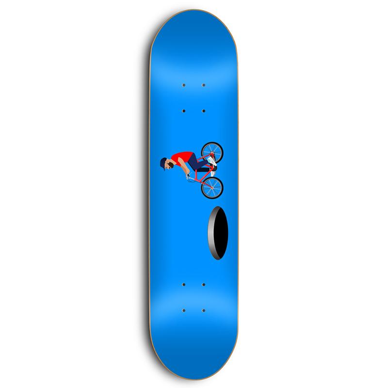 Skate Mental Vos Hole Skateboard Deck 8.25