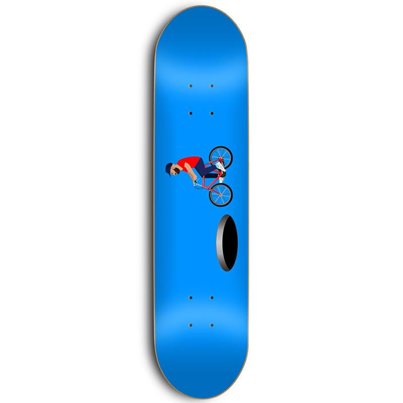 Skate Mental Vos Hole Skateboard Deck 8.375