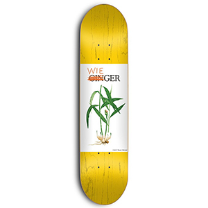 Skate Mental Wieger Van Wageningen Ginger Skateboard Deck Assorted Veneers 8.25