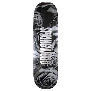 Springwood Black Roses Skateboard Deck 8.1
