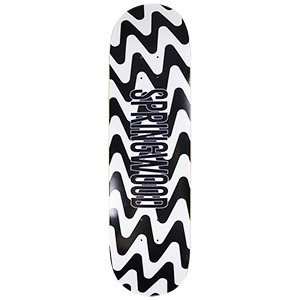 Springwood Black Waves Skateboard Deck 8.375