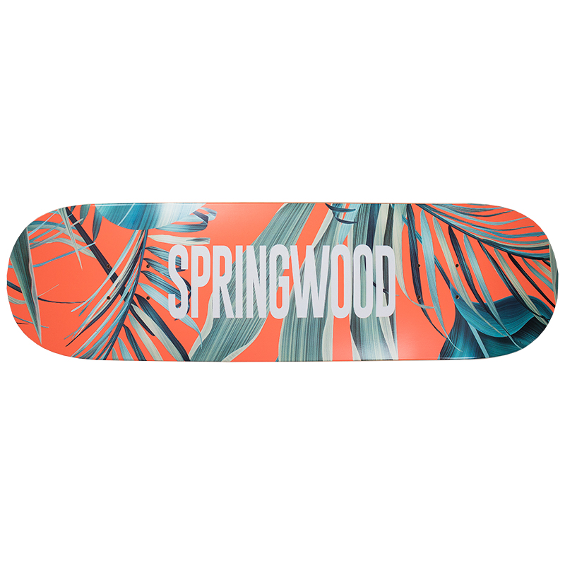 Springwood Orange Leaf Skateboard Deck 8.375