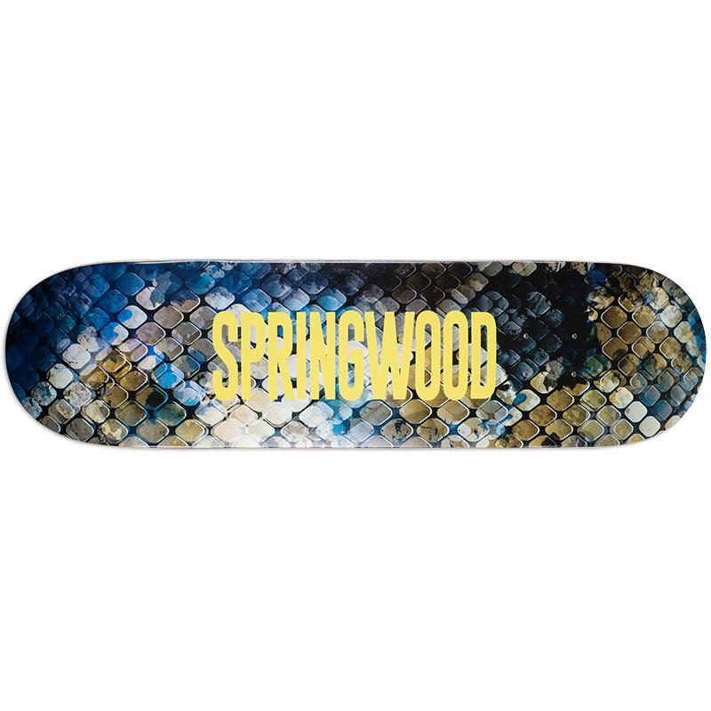 Springwood Snake Skin Skateboard Deck 8.125
