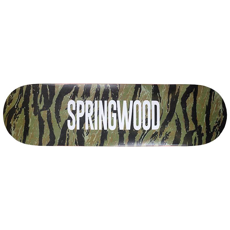 Springwood Tiger Camo Skateboard Deck 8.0