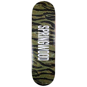 Springwood Tiger Camo Skateboard Deck 8.0
