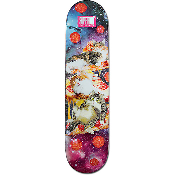 Superior Cats in Space Skateboard Deck 7.75