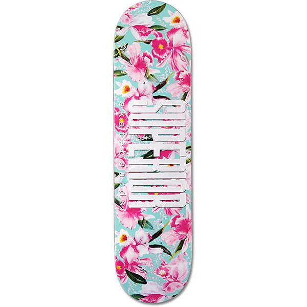 Superior Flora Skateboard Deck Pink/Blue 8.0