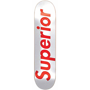 Superior Superior Skateboard Deck White/Red 8.375
