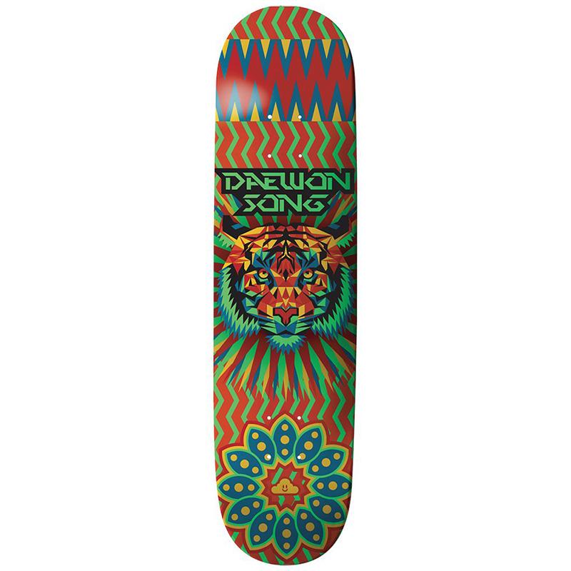 Thank You Daewon Song Geo Tiger Skateboard Deck Multi 7.75