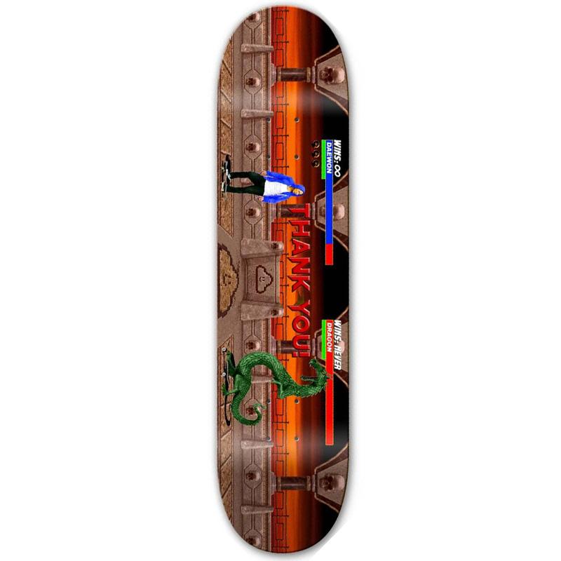 Thank You Daewon Song Kombat Skateboard Deck 8.0