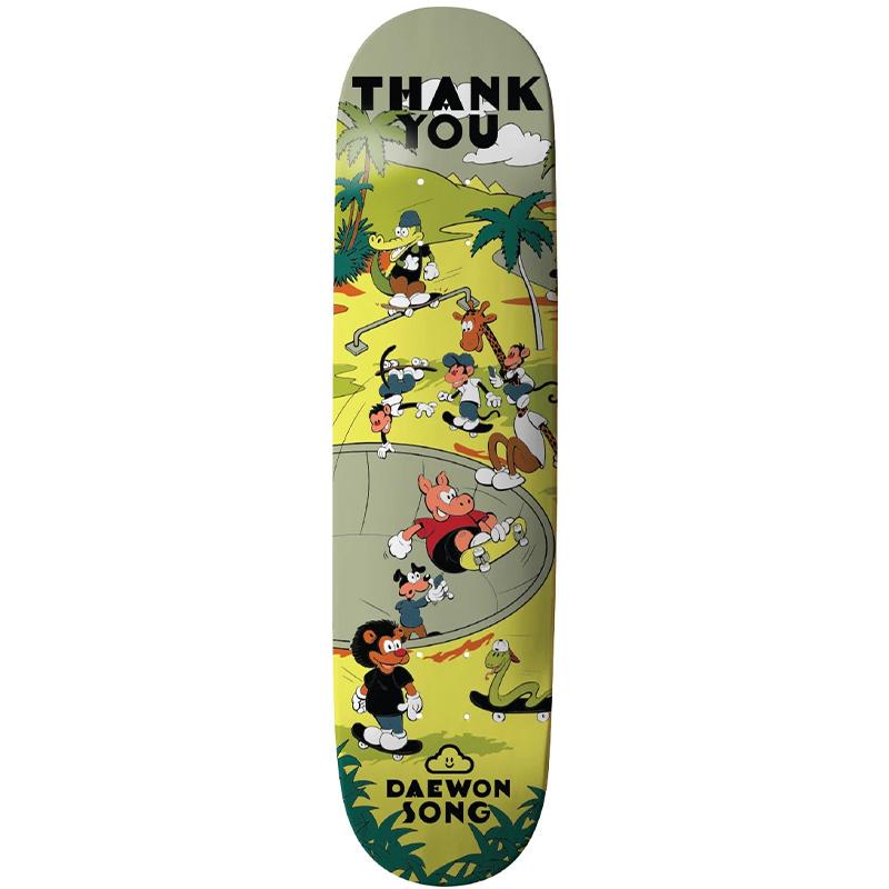 Thank You Daewon Song Oasis Skateboard Deck Multi 8.0