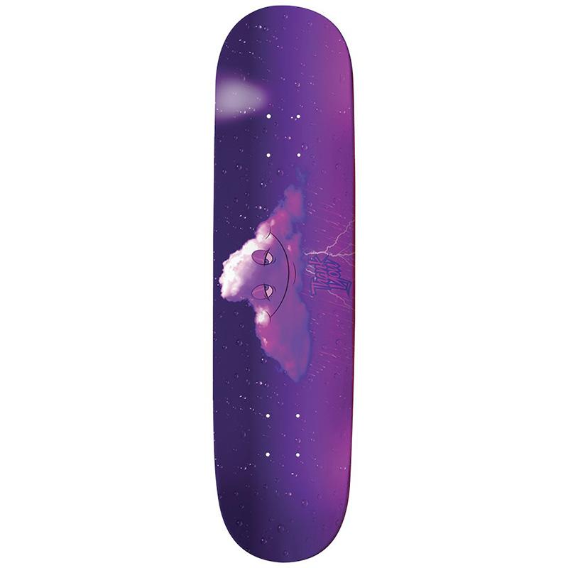Thank You Head In The Purple Rain Cloud Skateboard Deck Purple 8.0