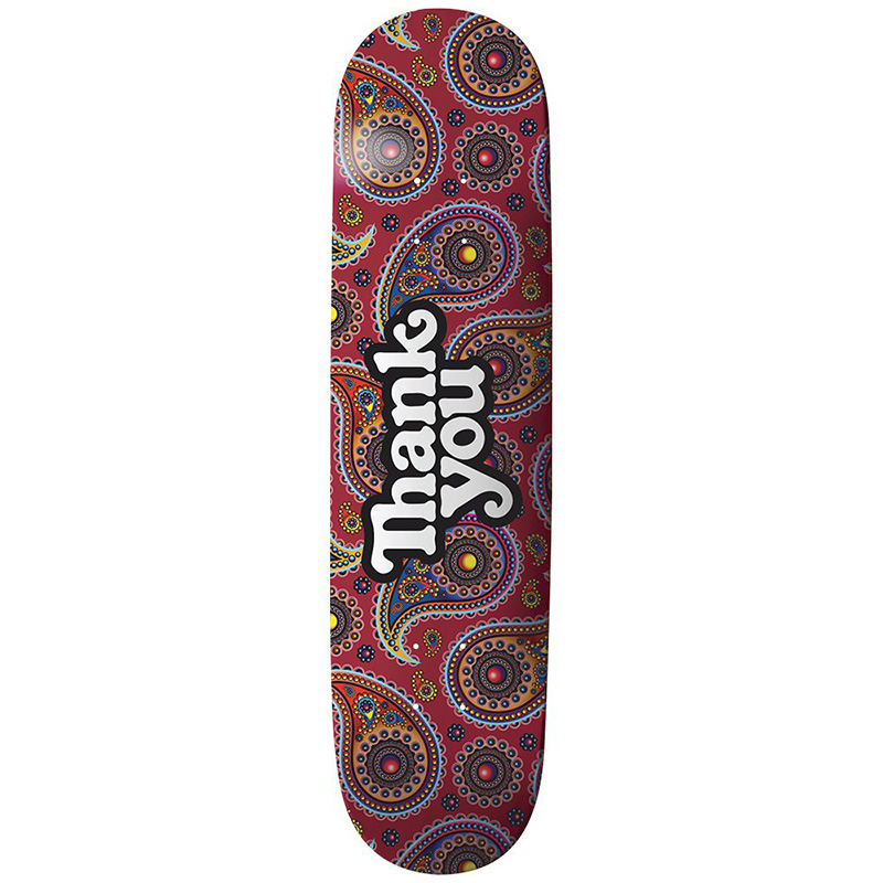 Thank You Paisley Logo Skateboard Deck Paisley 8.0