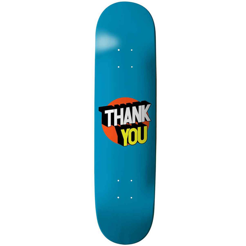 Thank You Spot On Skateboard Deck Teal 8.125