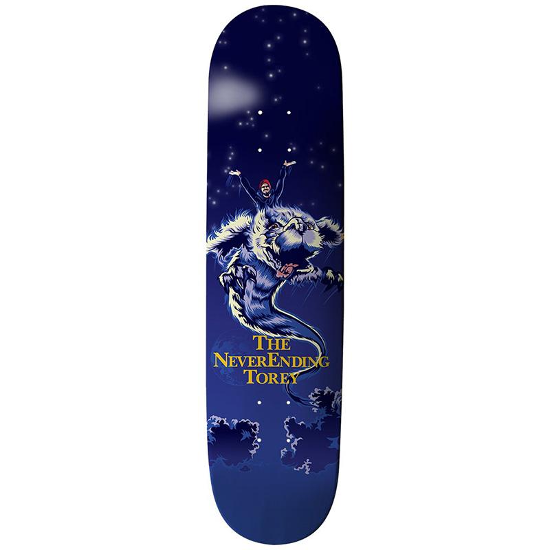 Thank You Torey Pudwill Never Ending Torey Skateboard Deck Navy 8.0