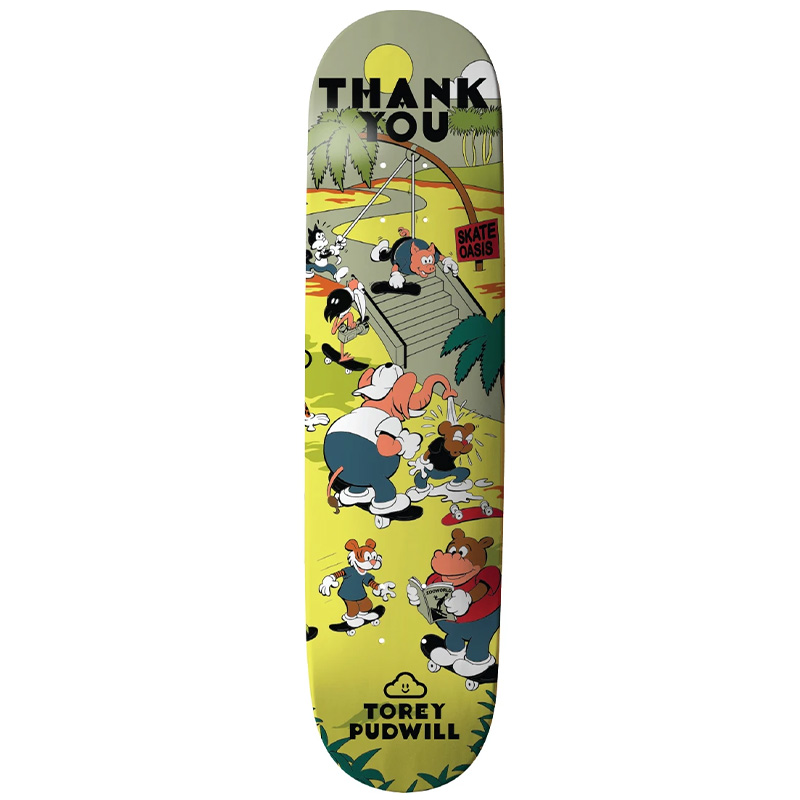 Thank You Torey Pudwill Oasis Skateboard Deck Multi 8.25