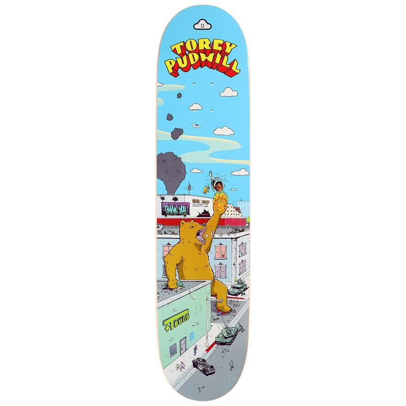 Thank You Torey Pudwill Rampage Skateboard Deck 8.0