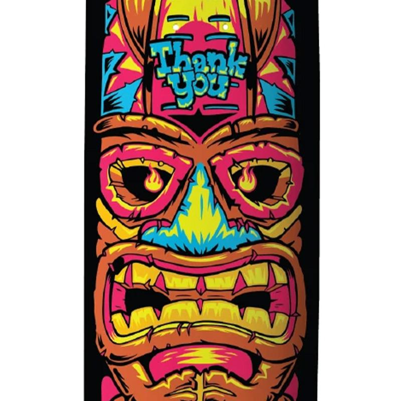 Thank You Torey Pudwill Tiki Skateboard Deck Multi 8.25