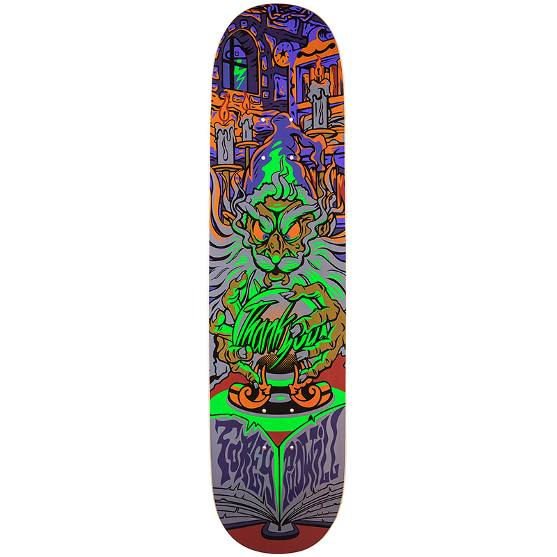 Thank You Torey Pudwill Wizard Skateboard Deck Black Light 8.125