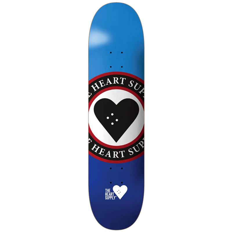 The Heart Supply Insignia Skateboard Deck Blue 8.25