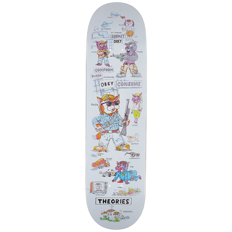 Theories Nada Skateboard Deck 8.25