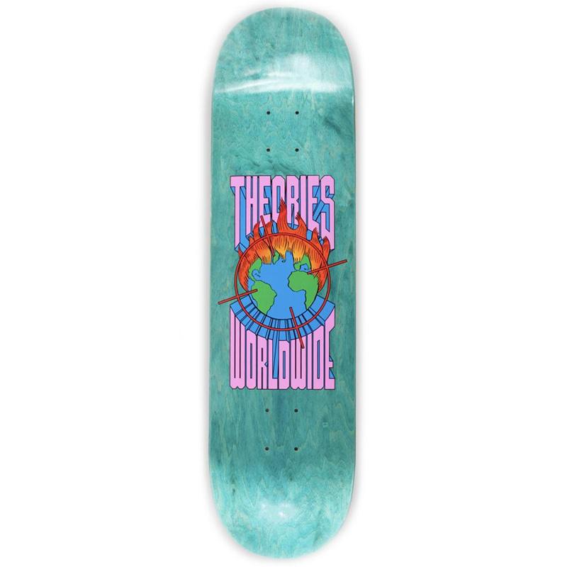Theories Worldwide Skateboard Deck Orange/Blue 8.25