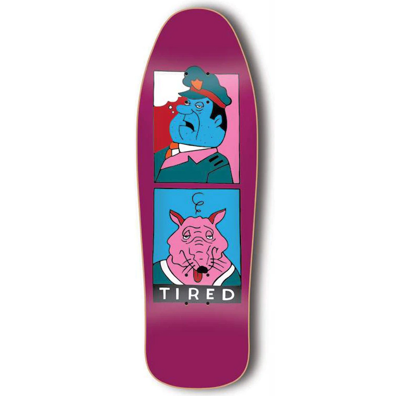 Tired Cop And Rat 1989 Skateboard Deck 9.7