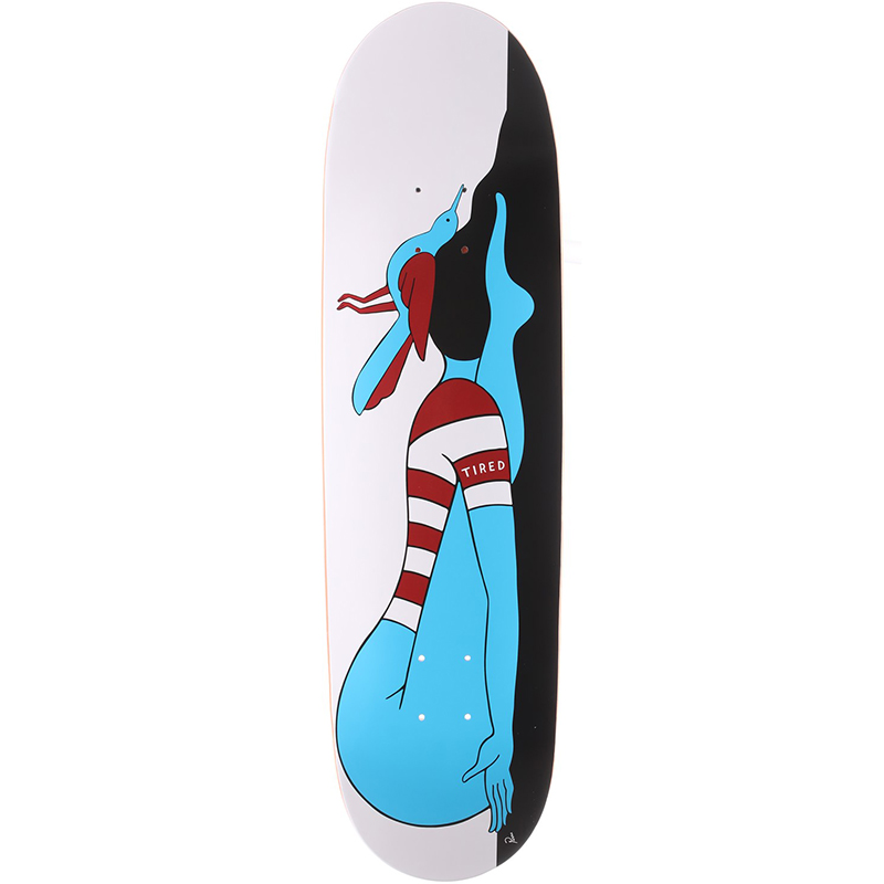 Tired Knocked Out on Joel Skateboard Deck 8.625