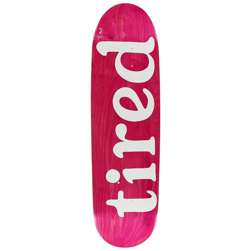 Tired Lowercase Logo on Deal Skateboard Deck 8.75