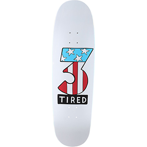 Tired Number Three on Deal Skateboard Deck 8.75