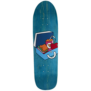 Tired Packed Lunch On Slick Skateboard Deck 9.189