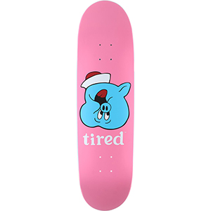 Tired Pig Upside Down Face on Joel Skateboard Deck 8.625
