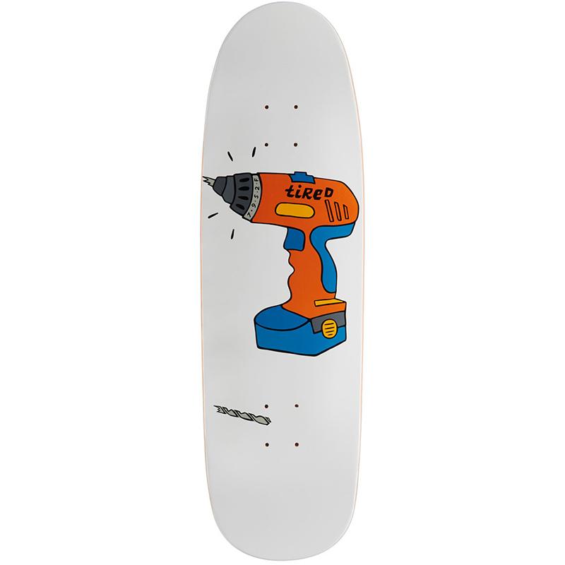 Tired Power Tool On Sigar Skateboard Deck 9.25