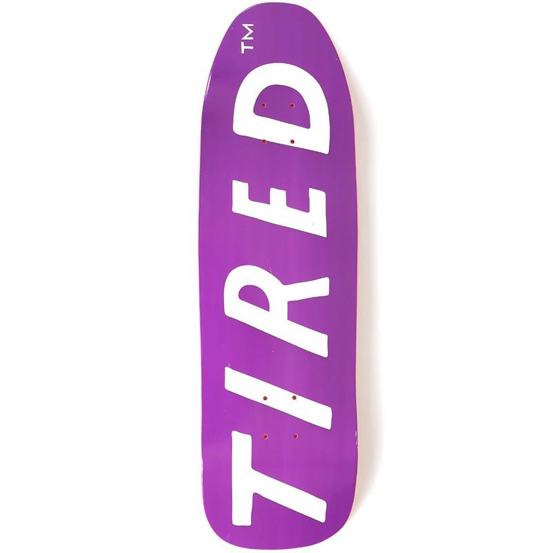 Tired Uppercase Skateboard Deck 9.0