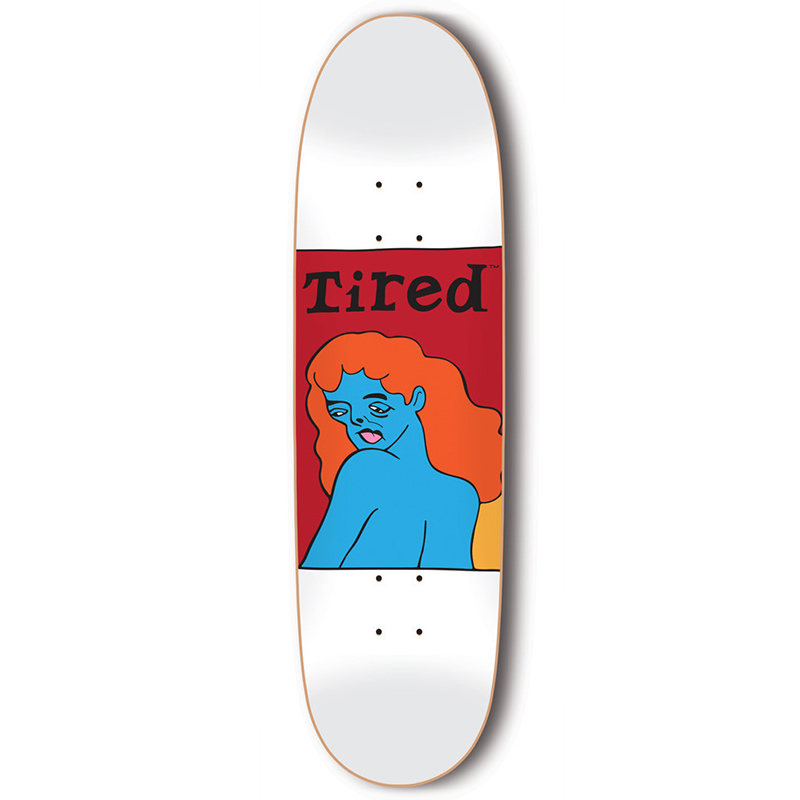 Tired Woman's Face Skateboard Deck 9.189