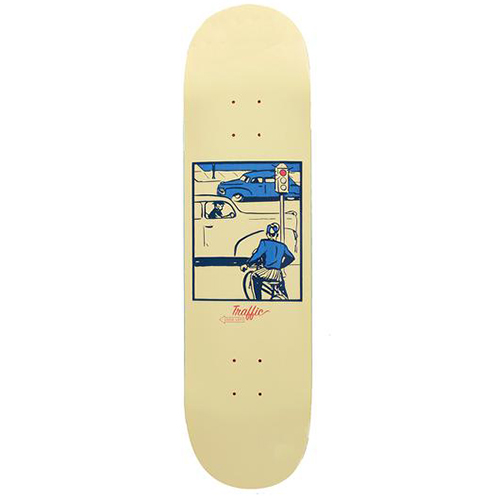 Traffic Caution Skateboard Deck 8.0