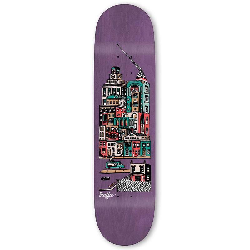 Traffic Community City Blocks Skateboard Deck 8.25