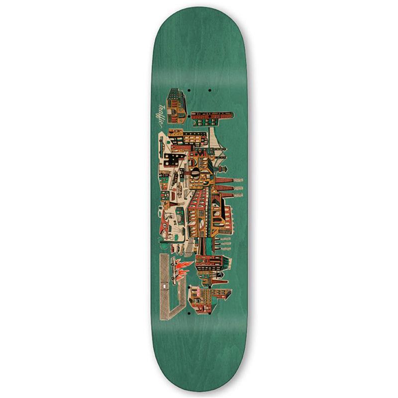 Traffic Industrial City Blocks Skateboard Deck 8.25