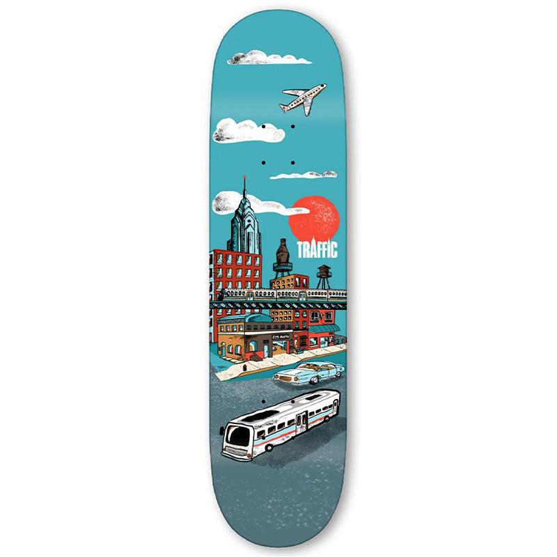 Traffic Liberty Place City Blocks Skateboard Deck 8125