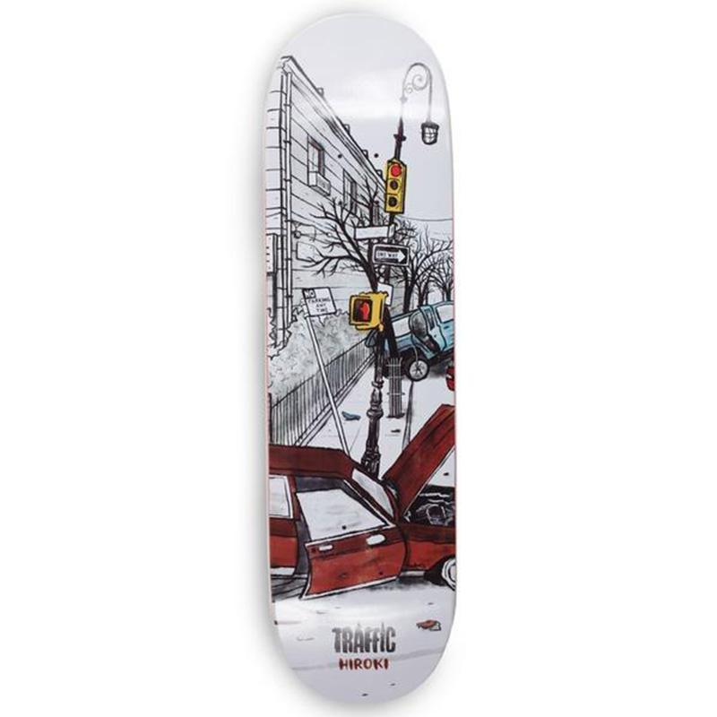 Traffic Wasteland Hiroki Skateboard Deck 8.25