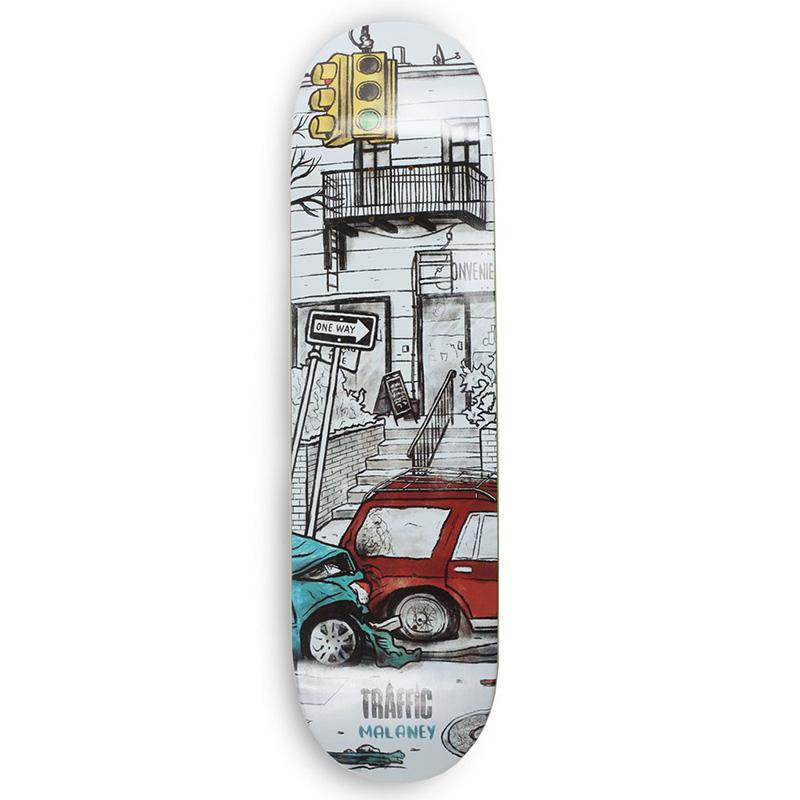 Traffic Wasteland Malaney Skateboard Deck 8.0