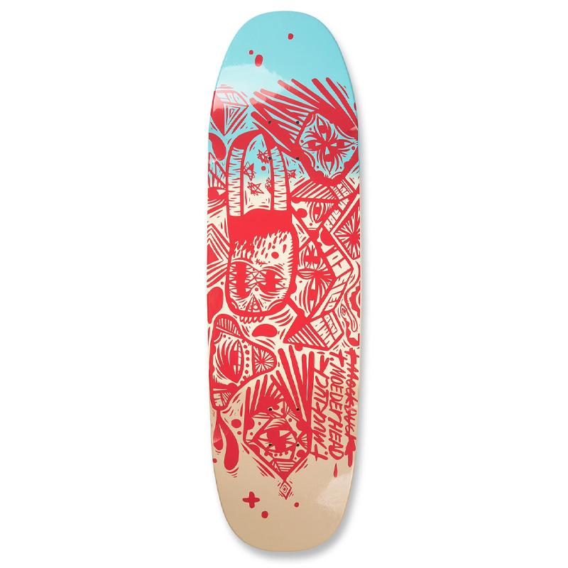 UMA Landsleds Right Said Red Tmuck Dipped Shaped Skateboard Deck 9.25